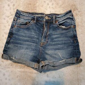 Bethany Mota Short Cuffed Blue Jean Shorts Size 0